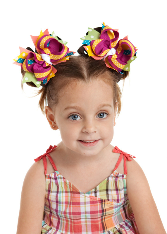 Jungle Gem DIVA 2 Hair Bows or Headband, Regular or Mini