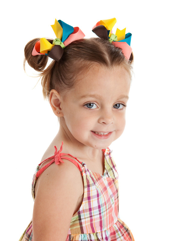 Jungle Gem Loopie Chic Hair Bows or Headband, Regular or Mini
