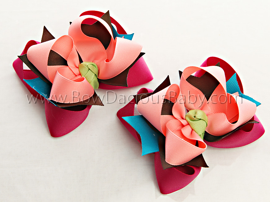 Jungle Gem DIVA Hair Bows or Headband, Regular or Mini