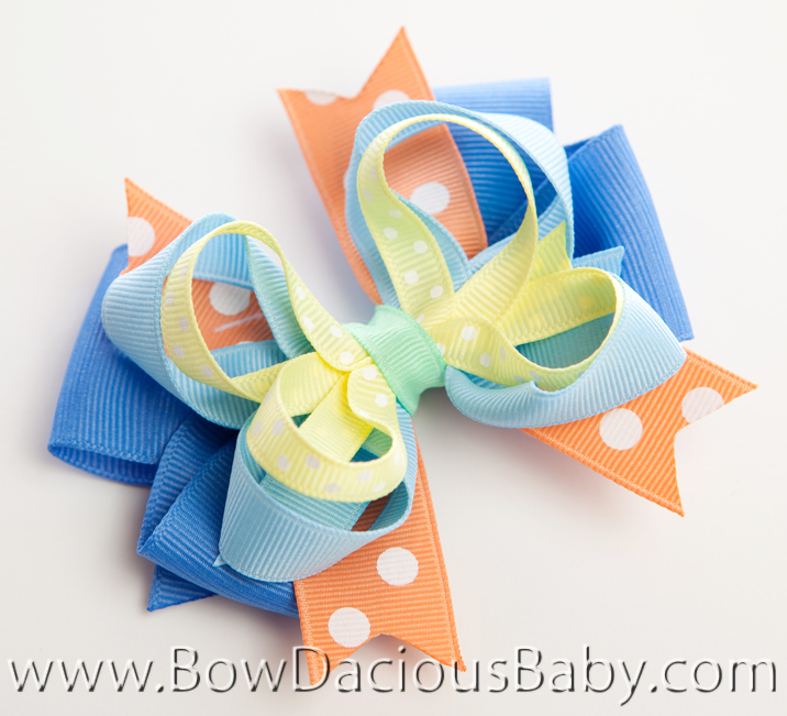 Mermaid Magic Hair Bows or Headband, Regular or Mini