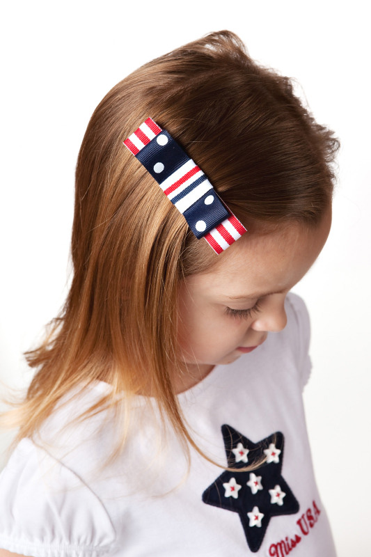 Flag Girl Tuxedo Hair Bow