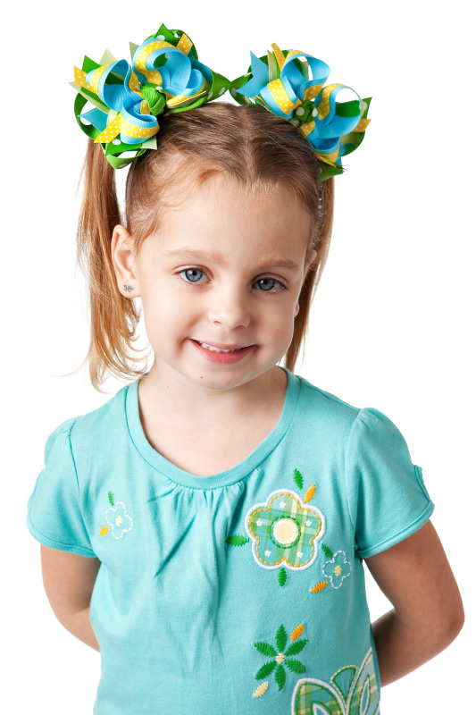 Gap Lawn Party DIVA 3 Hair Bows or Headband, Regular or Mini