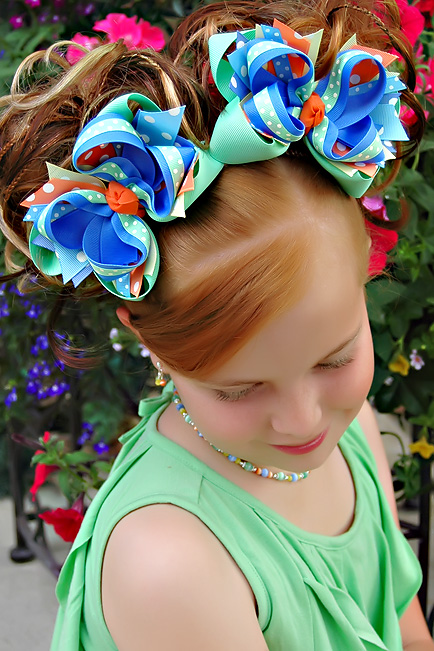 Mermaid Magic DIVA 4 Hair Bows or Headband, Regular or Mini