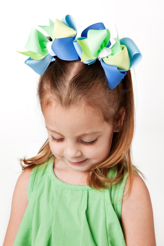 Mermaid Magic Loopie Chic Hair Bows or Headband, Regular or Mini