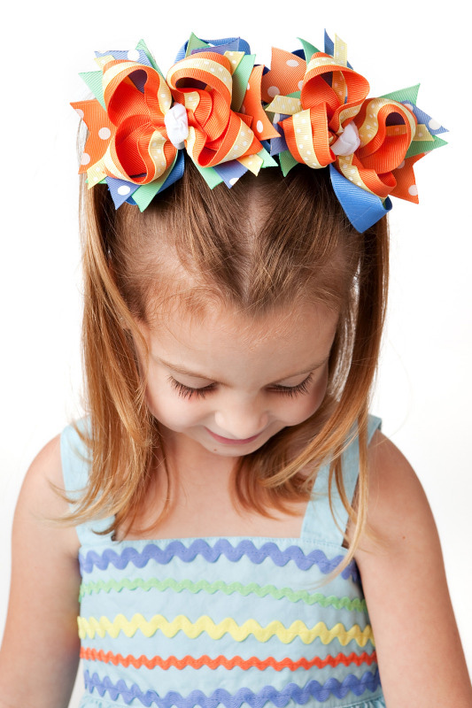 Mermaid Magic DIVA 3 Hair Bows or Headband, Regular or Mini