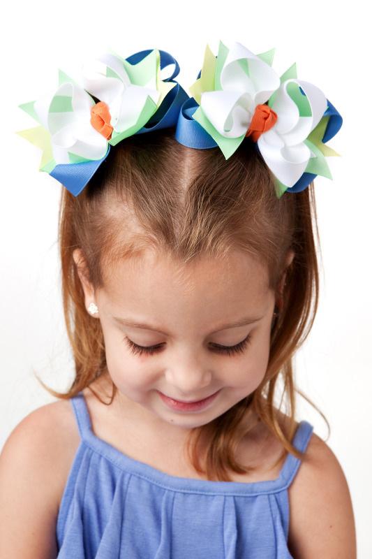 Mermaid Magic DIVA Hair Bows or Headband, Regular or Mini