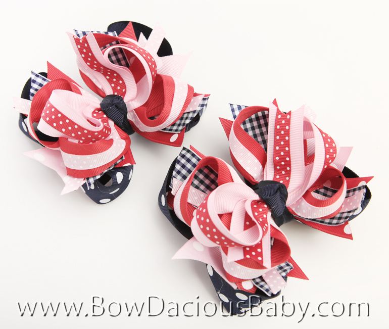 New York City Girl DIVA 2 Hair Bows or Headband, Regular or Mini