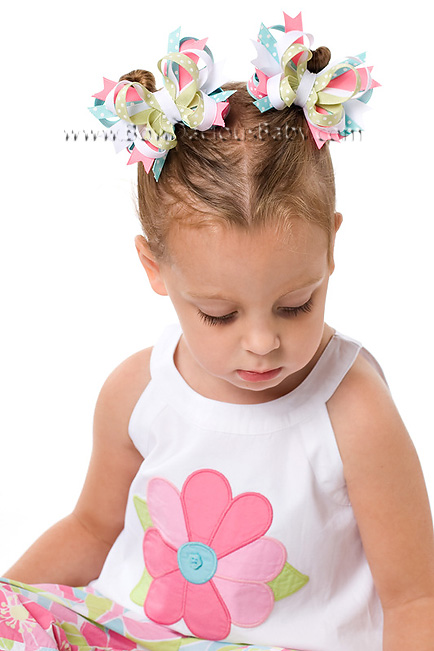 Palm Springs Itty Bitty DIVA Hair Bows or Headband