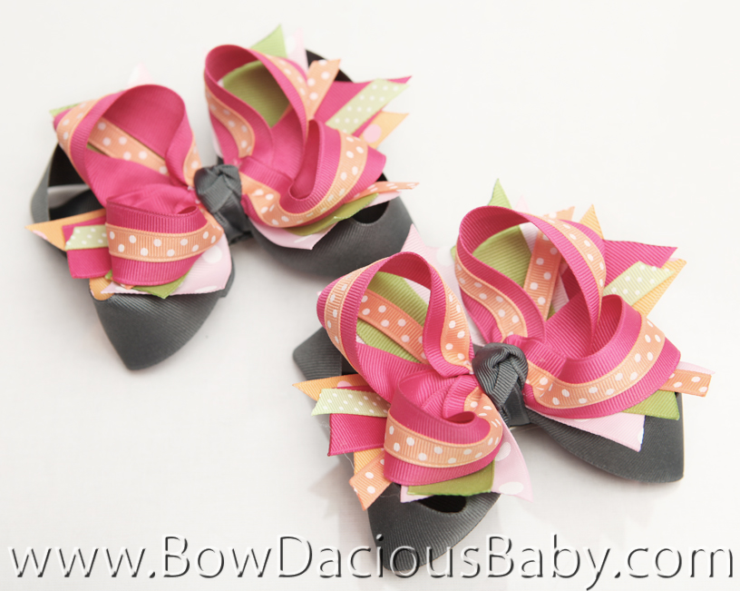 Popstar Academy DIVA 5 Hair Bows or Headband, Regular or Mini
