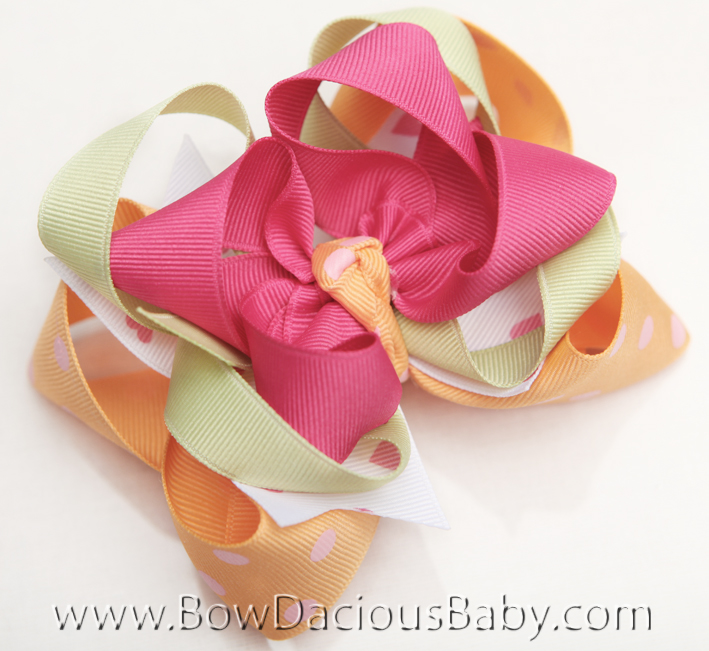 Popstar Academy DIVA 3 Hair Bows or Headband, Regular or Mini