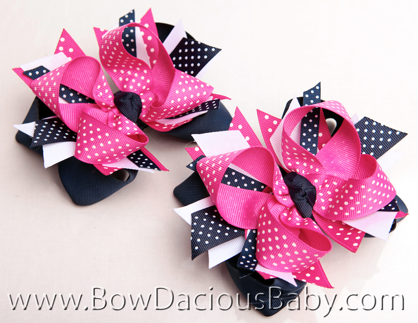 Preppy Poodle DIVA Hair Bows or Headband, Regular or Mini