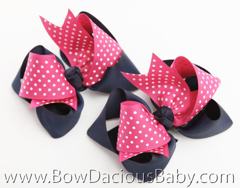 Preppy Poodle Loopie Chic Hair Bows or Headband, Regular or Mini