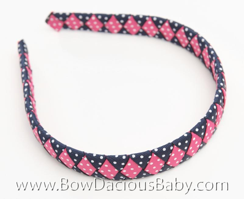 Preppy Poodle Woven Headband