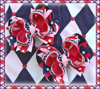 Schoolgirls Rock DIVA Hair Bows or Headband