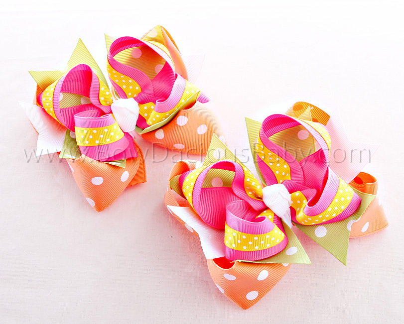Social Butterfly DIVA 2 Hair Bows or Headband Regular or Mini