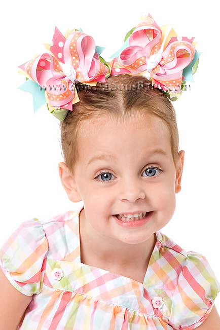 Spring Rainbow DIVA Hair Bows or Headband
