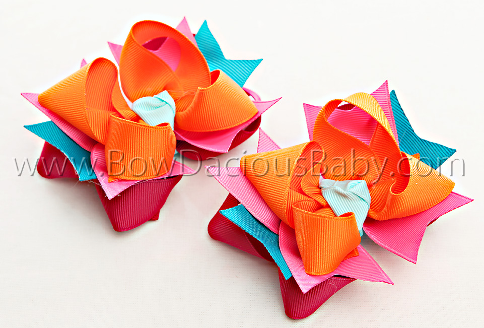 Spring Sparkle DIVA Hair Bows or Headband, Regular or Mini