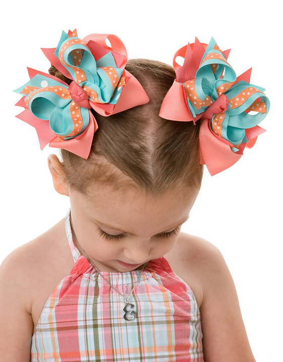 Tropical Garden DIVA 3 Hair Bows or Headband