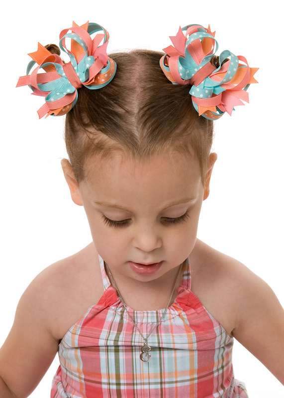 Tropical Garden Itty Bitty DIVA Hair Bows or Headband