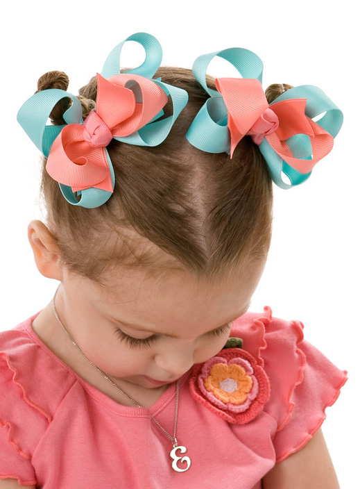 Tropical Garden Loopie Chic or Sweet Pea Hair Bows or Headband