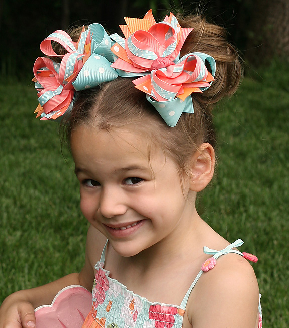 Tropical Garden DIVA 2 Hair Bows or Headband