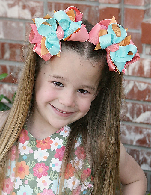 Tropical Garden DIVA Hair Bows or Headband