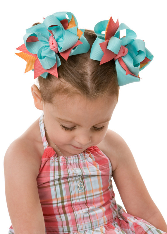 Tropical Garden DIVA 4 Hair Bows or Headband