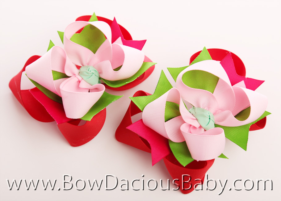 Watermelon Picnic DIVA Hair Bows or Headband, Regular or Mini