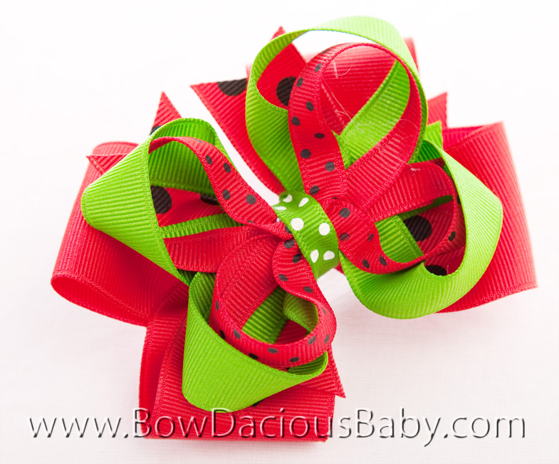 Watermelon Picnic Hair Bow or Headband 2