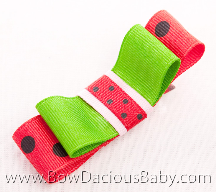 Watermelon Picnic Tuxedo Bow 2