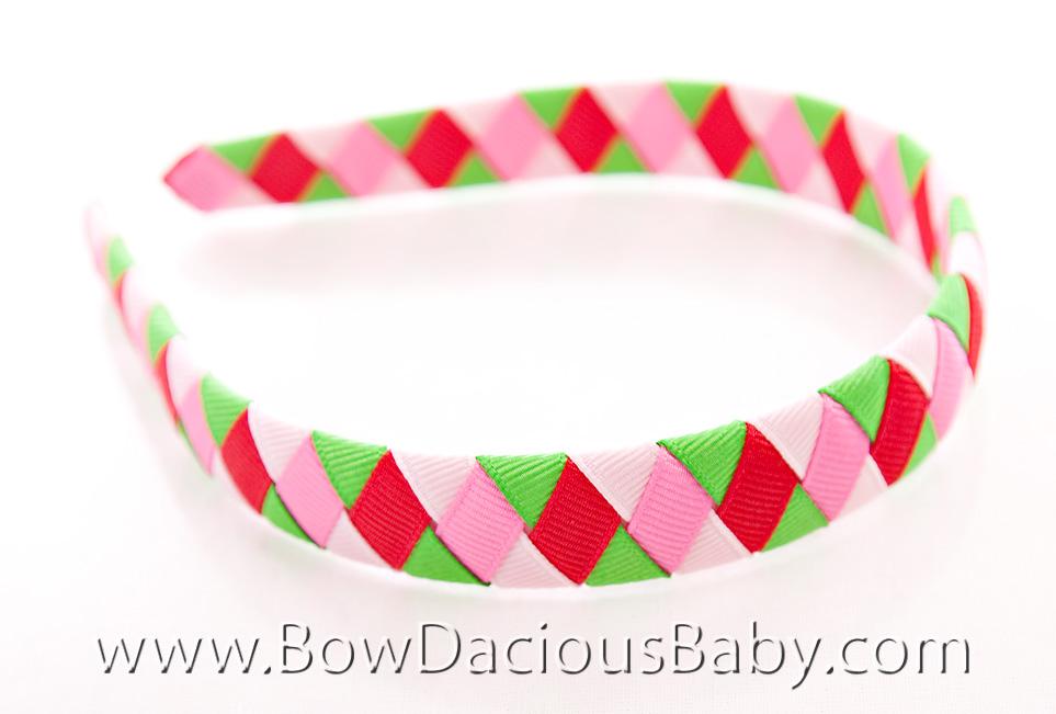 Watermelon Picnic Woven Headband 2