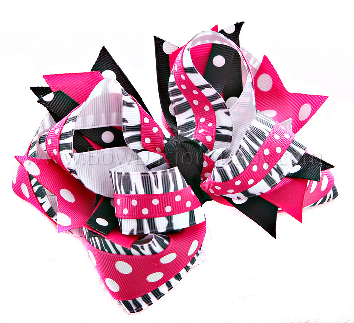 Wild One DIVA Hair Bows or Headband, Regular or Mini