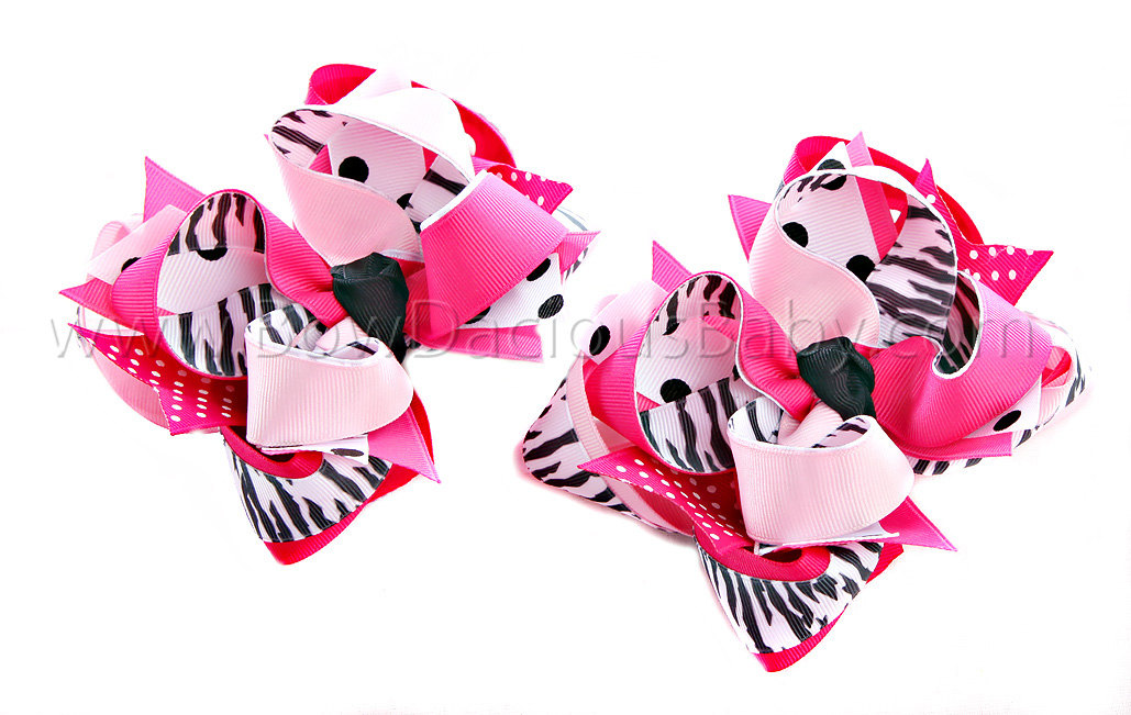 Wild One DIVA 2 Hair Bows or Headband, Regular or Mini
