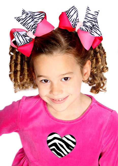 Wild One Loopie Chic Hair Bow or Headband, Regular or Mini