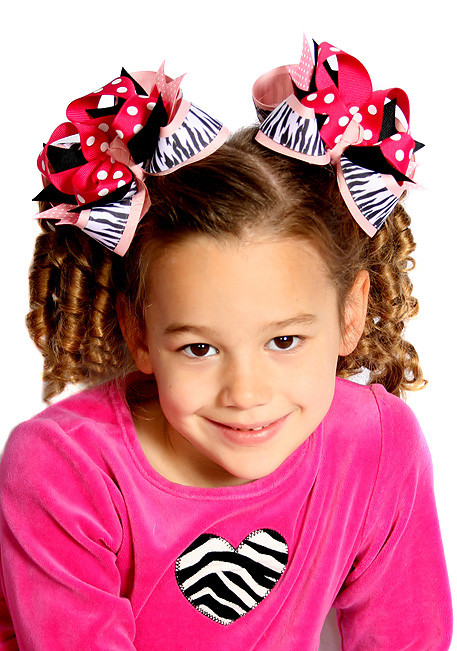 Wild One DIVA 3 Hair Bows or Headband, Regular or Mini
