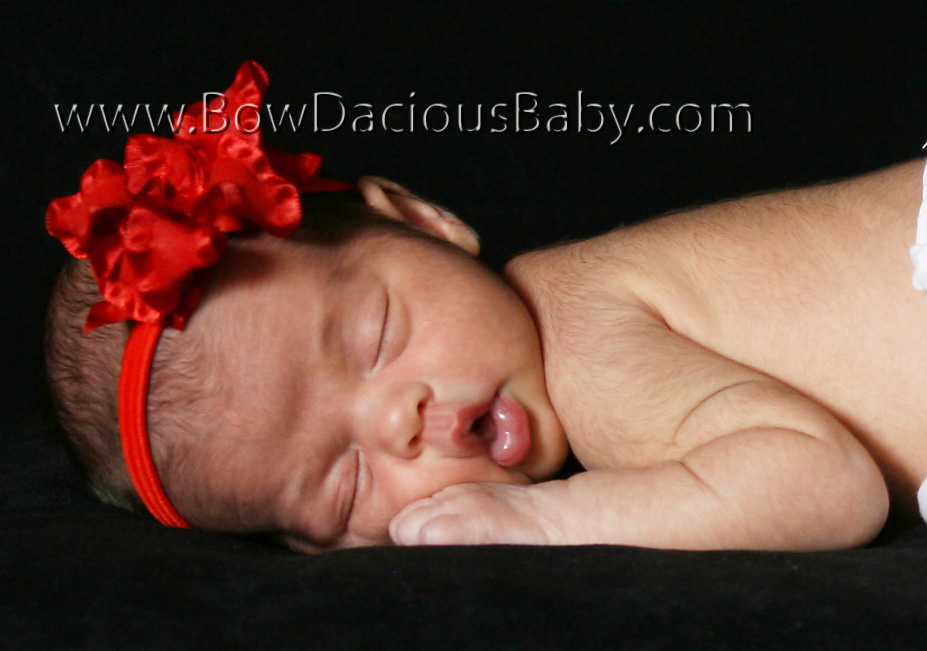 Infant Ruffle Ribbon Boutique Headband, Color Choices