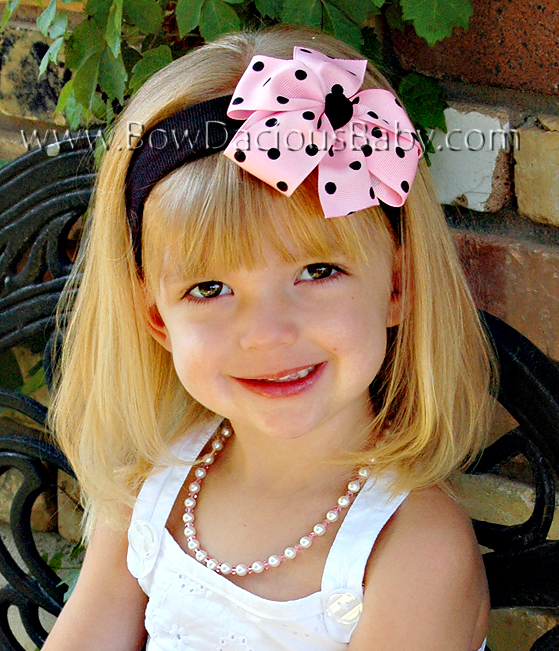 Traditional Boutique Headband Polka Knot Center, Color Choices