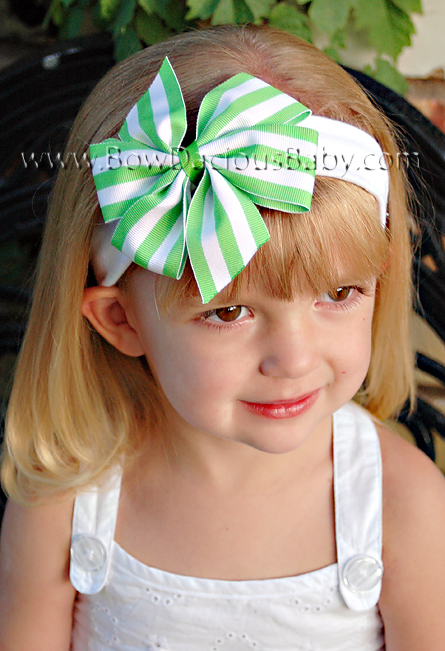Traditional Boutique Headband in Stripes Plain Center, Color Choices
