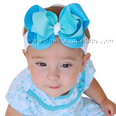 *Loopie Chic Headband Tri-Color Knotted Center, Color Choices