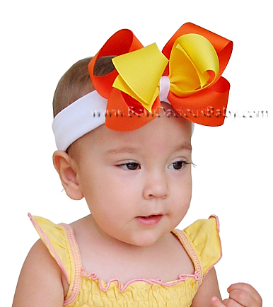 *Loopie Chic Headband Tri-Color Plain Center, Color Choices
