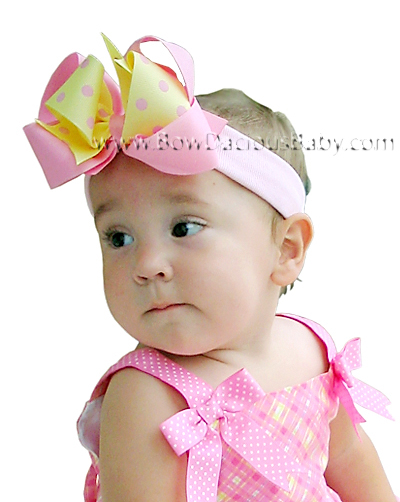 *Loopie Chic Headband in Solid & Polka Plain Center, Color Choices
