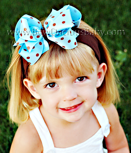 *Loopie Chic Headband in Polka Plain Center, Color Choices