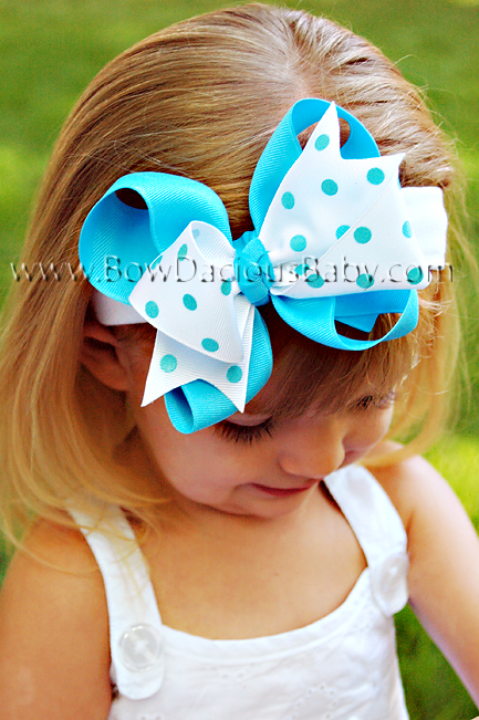 *Loopie Chic Headband Solid & Polka Knotted Center, Color Choices