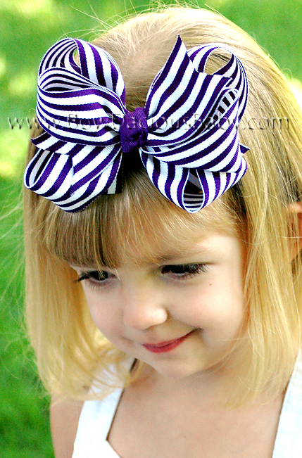 *Loopie Chic Headband in Stripes Knotted Center, Color Choices