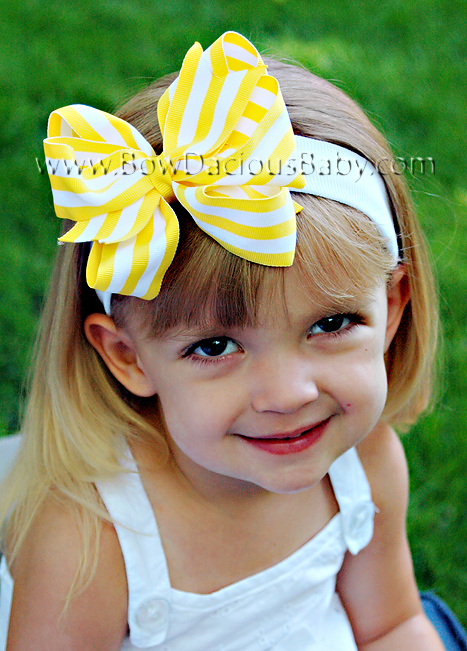 *Loopie Chic Headband in Stripes Plain Center, Color Choices