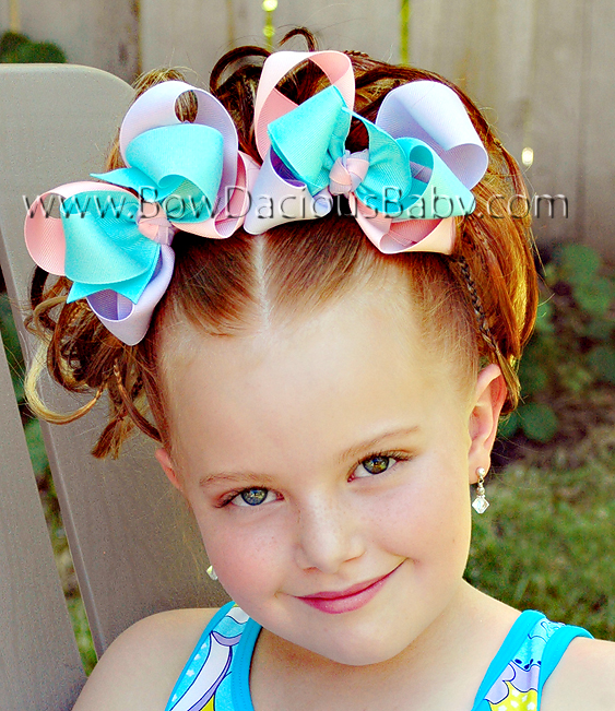 *Loopie Chic Funky Boutique Hair Bows Knot Center, Color Choices