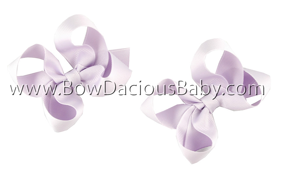 Mini Emma Boutique Hair Bows Plain Center, Color Choices