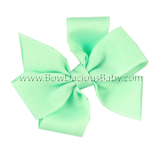 Mini Traditional Boutique Hair Bow Plain Center, Color Choices