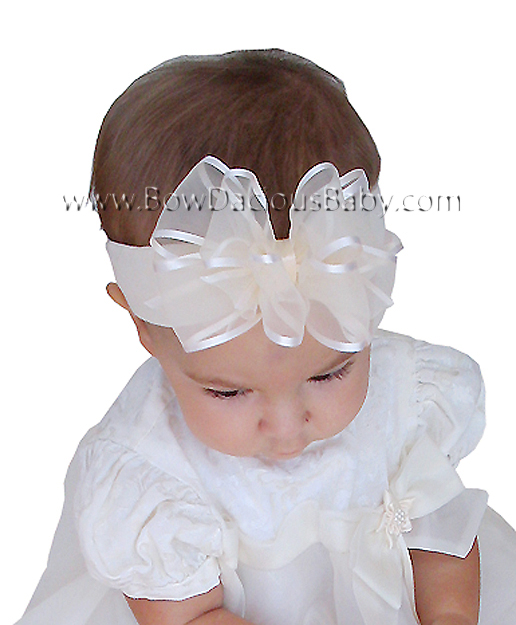 Satin Organza Boutique Headband, Color Choices