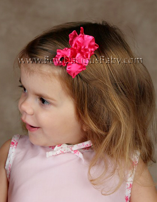 Ruffle Boutique Hair Bow Mini